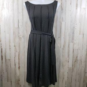 Voir Voir Women Womens Dress Black White Polka-Dot